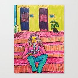 Porch Rips Canvas Print