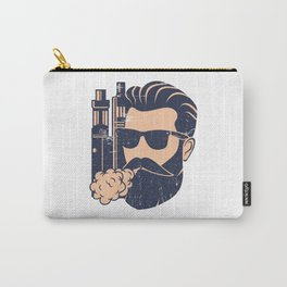 Cloud Chaser - Vaping Bearded Man Carry-All Pouch