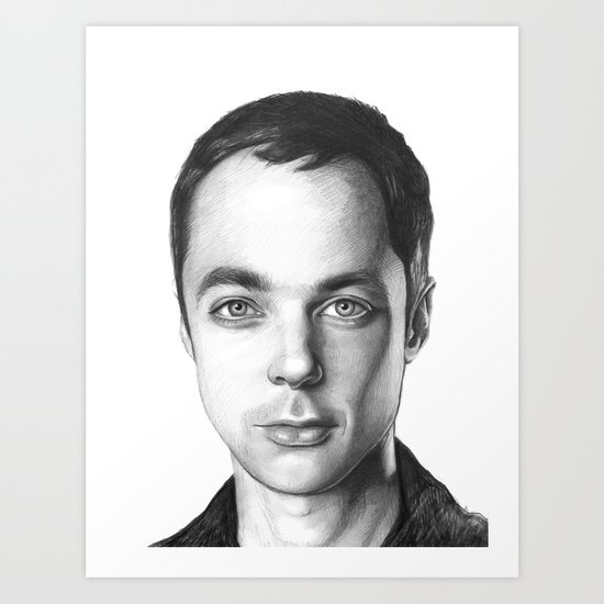 Sheldon Cooper BBT Portrait Art Print