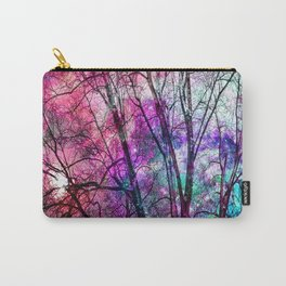 Purple teal forest Carry-All Pouch