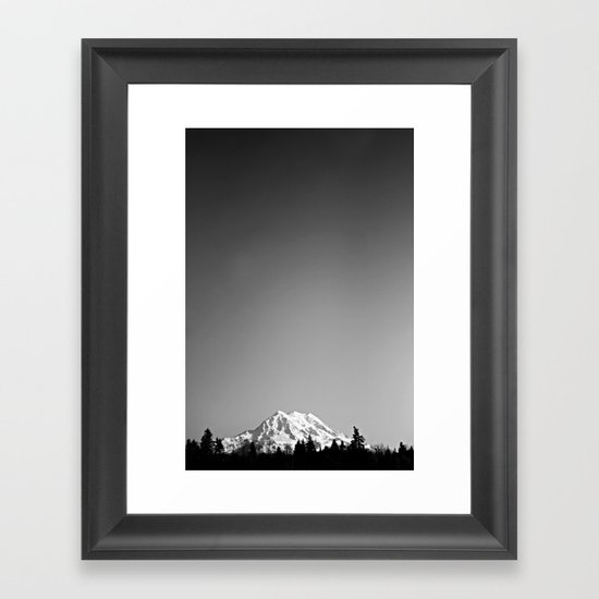 Mt. Rainier Framed Art Print