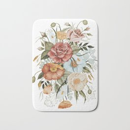 Roses and Poppies Bath Mat