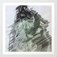 Ink Wolf Art Print