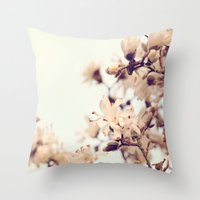 magnolia Throw Pillows featuring Magnolia by Dena Brender Photography
