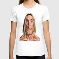 iggy T-shirts featuring Celebrity Sunday ~ Iggy Pop by rob art | illustration