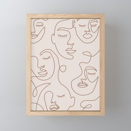 Abstract Face Women Art Framed Mini Art Print