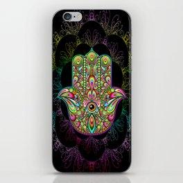 Hamsa Hand Amulet Psychedelic iPhone Skin