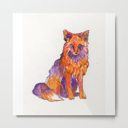 Fox Red Metal Print