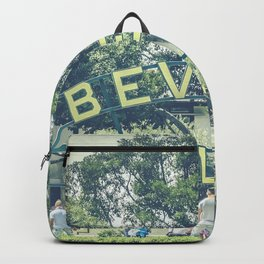 Beverly Hills Sign - Vintage Backpack