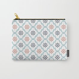 Red & Blue Mute Lattice Carry-All Pouch