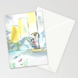 I Can Fish in Puddles Stationery Cards