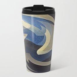 Bluetan Swirl Travel Mug