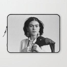 Frida Kahlo Wearing White Shirt Laptop Sleeve