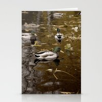 ducks Stationery Cards featuring Ducks by Devin Marie