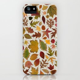Autumn Leaves Speckle iPhone Case