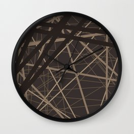 Abstract brown . Line . Wall Clock