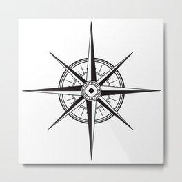 Compas Metal Print