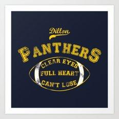 Dillon Panthers Art Print
