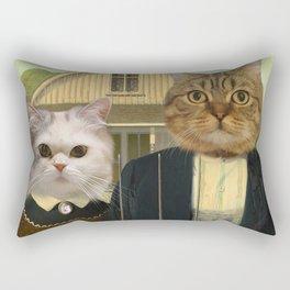 "American ""Cat""thic Rectangular Pillow"