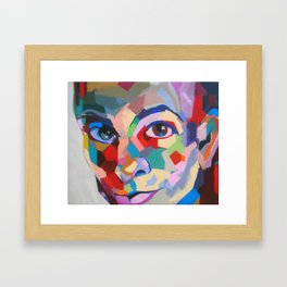 Tanto brete por el arete Framed Art Print