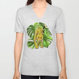 panther jungle Unisex V-Neck