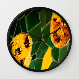 Photograph Yellow and Green Spanish Tile Mosaic Wall Clock