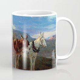 """""""California or Oregon"""" by Frank Tenney Johnson Coffee Mug"""