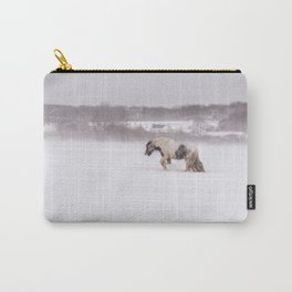 Lonely horse in the snow Carry-All Pouch