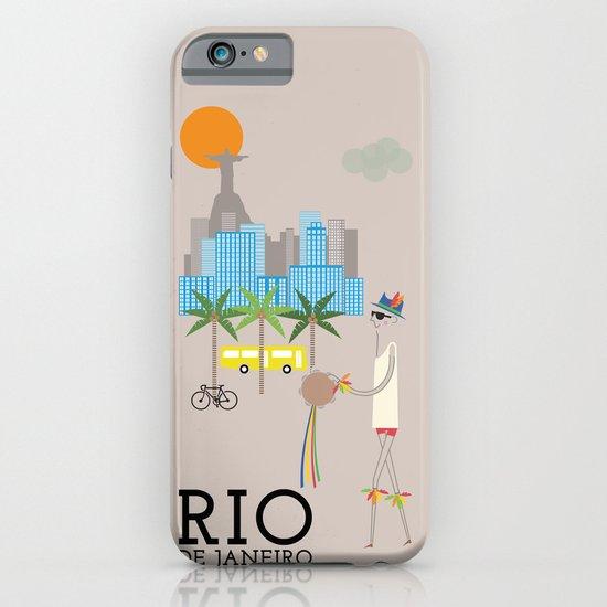 Rio - In the City - Retro Travel Poster Design iPhone & iPod Case