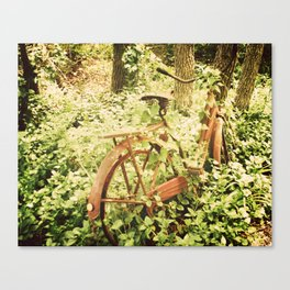 Ole Rusty Bicycle Abandoned Urban Exploration Urbex Taken Over by Nature  Canvas Print