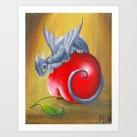 Cherry Dragon Art Print