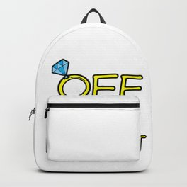 OFF THE MARKET Wedding Bachelor Party Bride Gift Backpack