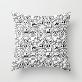 Monsters Pattern Throw Pillow
