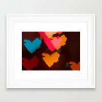 hearts Framed Art Prints featuring Hearts by Tanya Thomas