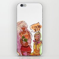 workout iPhone & iPod Skins featuring Workout by RADicles