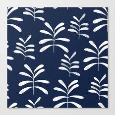 Bromeliads - indigo Canvas Print