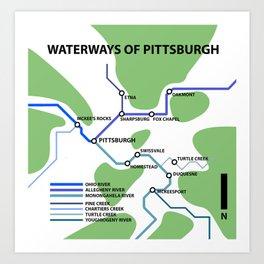 Waterways of Pittsburgh Art Print