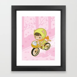 Blossom Ride Framed Art Print