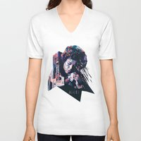 ripley V-neck T-shirts featuring Ellen Ripley : HARD ACTRESS by mergedvisible