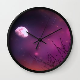 Celestial Moon Wall Clock