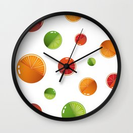 Citrus mix Wall Clock