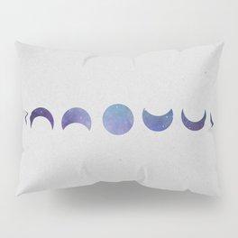Galaxy Moon Phases Pillow Sham