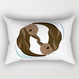 Cute Sea Otter Rectangular Pillow
