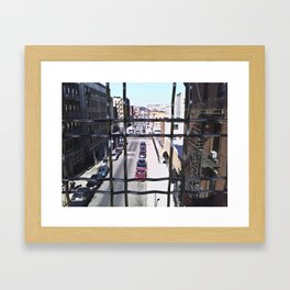 wrong turn in brooklyn Framed Art Print