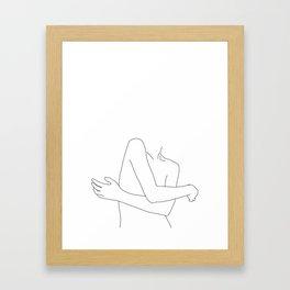 Woman's body line drawing - Calvin Framed Art Print