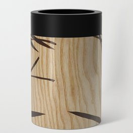 Japanese bamboo buddha wood art Can Cooler