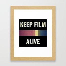 Keep Film Alive Framed Art Print
