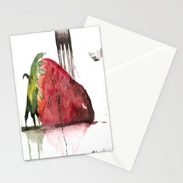 Straight For The Knife  Stationery Cards