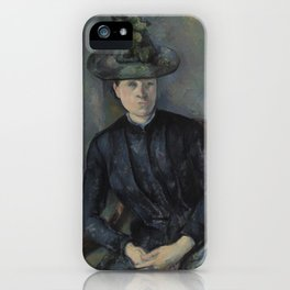 Madame Cézanne with Green Hat iPhone Case