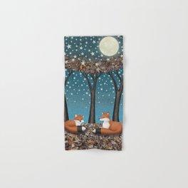starlit foxes Hand & Bath Towel